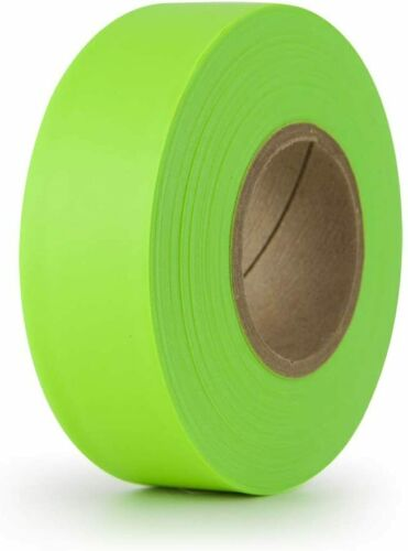 GWP Palmer TFTFG Fluorescent Green Flagging Tape, Pack of 2 Rolls, 150 ft, New