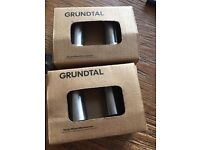 4 x IKEA GRUNDTAL Stainless Steel Hangers/Knobs For Bathroom & Kitchen
