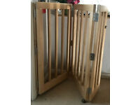 Heavy Duty Wood Stair Gate with 3 panels £25