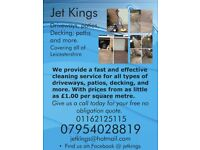 Jet washing service cleaning driveways, patios, decking, paths and more.