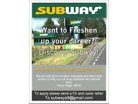 Assistant Manager Subway – Dunblane, Stirlingshire