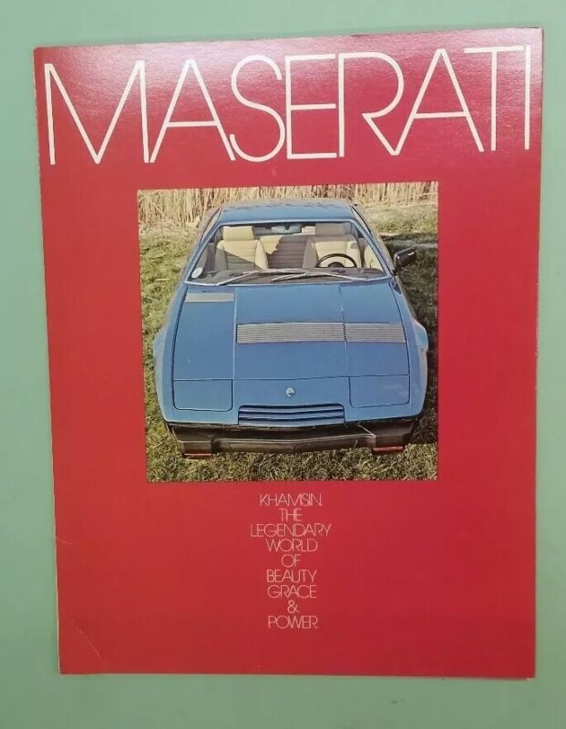 Maserati Khamsin brochure or flyer