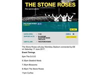 Ticket for The Stone Roses at Wembley Stadium 17th June
