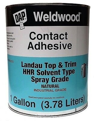 Contact Cement - DAP Weldwood Contact Cement Top & Trim HHR Solvent Type Spray Grade 1 GALLON