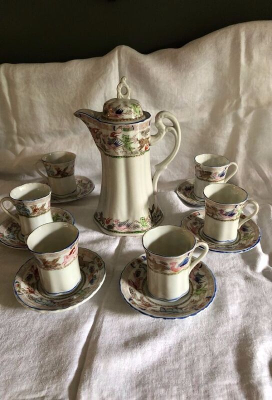 Antique Porcelain Japanese Hot Chocolate Set
