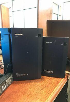 Panasonic Kx-tda50 Hybrid Ip-pbx Phone System Kx-tva50 Voicemail System 8 Phones