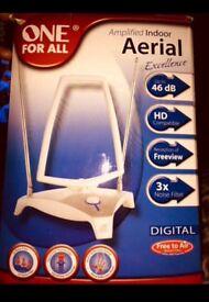 Digital indoor aerial amplified (brand new)