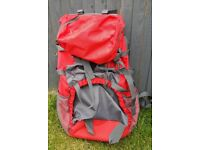Highlander Red/Grey 85lt Hiking Rucksack