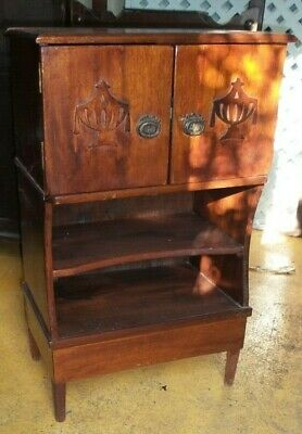 Old wooden bureau cupboard  / antique / vintage