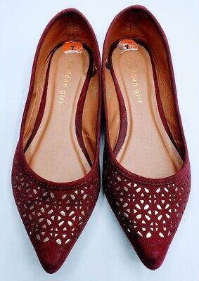 Madden Girl Womens Enzy Burgundy And Gold Size 7