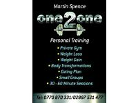 Martin Spence Personal Training Sessions
