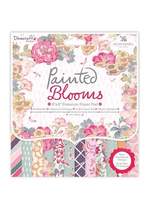 8x8 Paper Pad, Painted Blooms, Craft, Scrapbooking