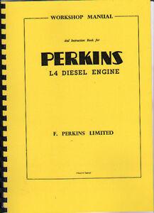 perkins  quot l4 quot  diesel engine workshop manual instruction book ebay