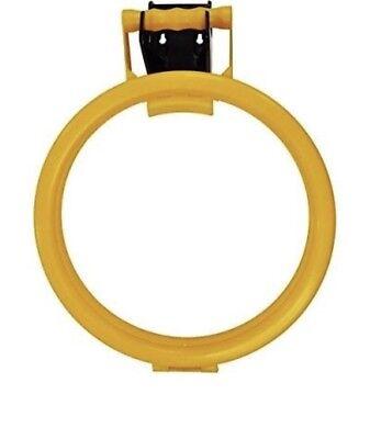 Handy Hoop Ring Litter Picking Bin Liner Sack Holder + Wall Bracket Yellow