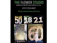 Flower birthday numbers for hire