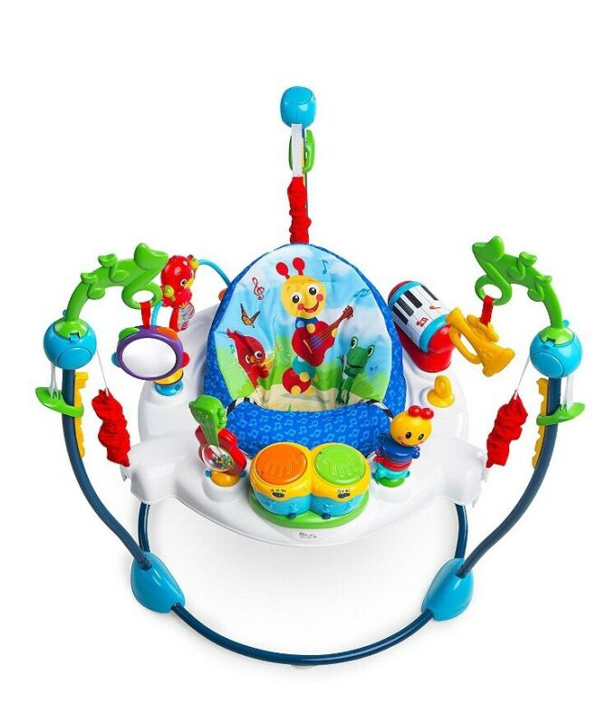 Baby Einstein Neighborhood Symphony Adjustable Jumper Music Removable Toys New
