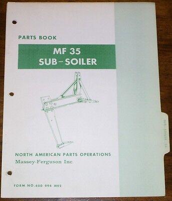 Massey Ferguson Mf35 Subsoiler Parts Manual