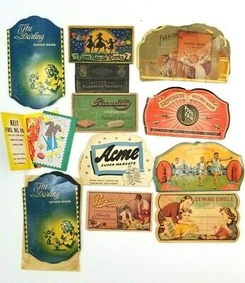 Lot of 12+ Vintage Sewing Needle Books Germany Japan Piccadilly Advertising