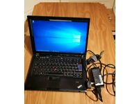 lenovo ThinkPad T61 Intel Core Duo T7300 2 GHz 3GB Ram 320Gb HDD Fitted New battery.