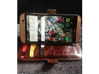 Gold HTC one M8 / Geniune Leather SWAP and cash