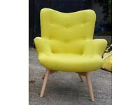 Brand New Hygena Angel Fabric Chair - Yellow. Can deliver