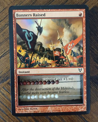 MTG Magic the Gathering Abacus Life Counter *BANNERS RAISED* 2-Sided