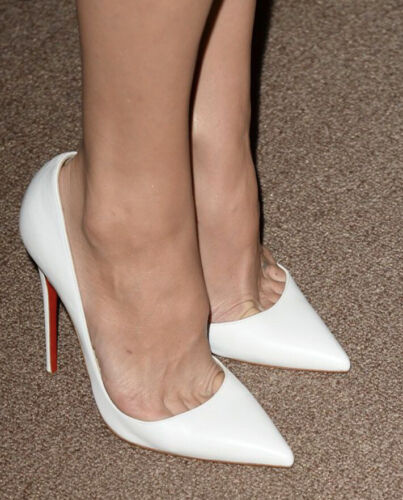 Christian Louboutin Pure White So Kate 100mm Pumps Heels –Size 40 Worn Once!!!!