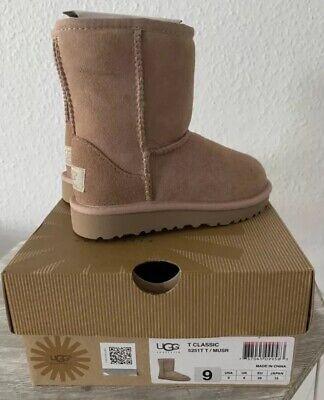 Mädchen Jungen Kids Kinder UGG Classic Stiefel Boots Gr 26 Mushroom Beige Braun