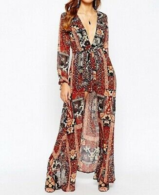 Kiss The Sky Playsuit With Maxi Overlay xs