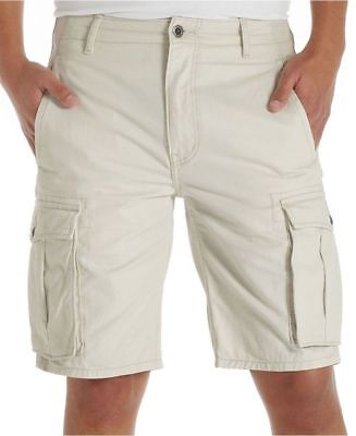 Levi's Men's Big & Tall Relaxed Fit Ace Cargo Shorts 54 Waist Off White  ANB