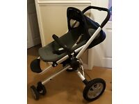 Quinny Buzz Push chair with XL Seat, memory foam seat and carrycot excellent condition