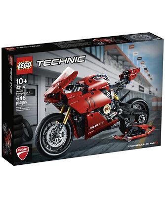 LEGO TECHNIC 42107 Ducati Panigale V4 R Building Kit 646 Pcs