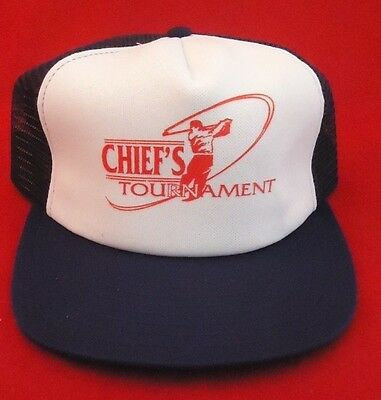 Vintage CHEIF'S of Police Golf Tournament Trucker Hat Cap  (Cheif Hat)