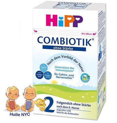 HiPP BIO Combiotic Stage 2 No Starch Organic Baby Formula  FREE SHIPPING 07/2020