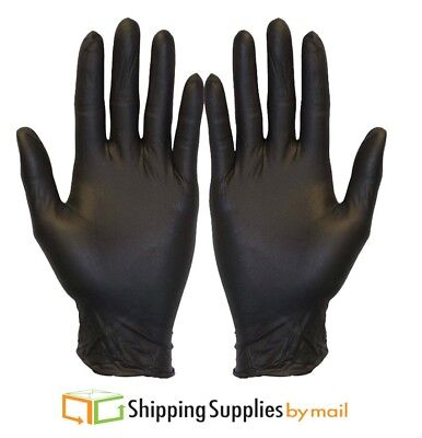 Black Nitrile Gloves Disposable Powder Free Glove Latex Free Assorted Sizes
