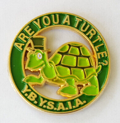 Heavy Alloy Car Emblem Y.B.Y.S.A.I.A Delux Masonic Are you A Turtle