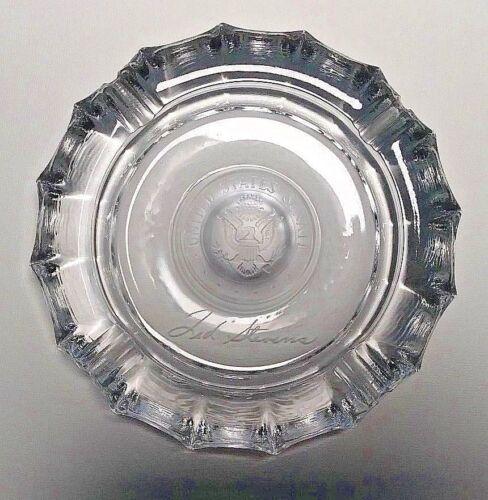 """United States Senate Glass Ashtray 8 inches """" Ted Stevens """" Senator Alaska"""