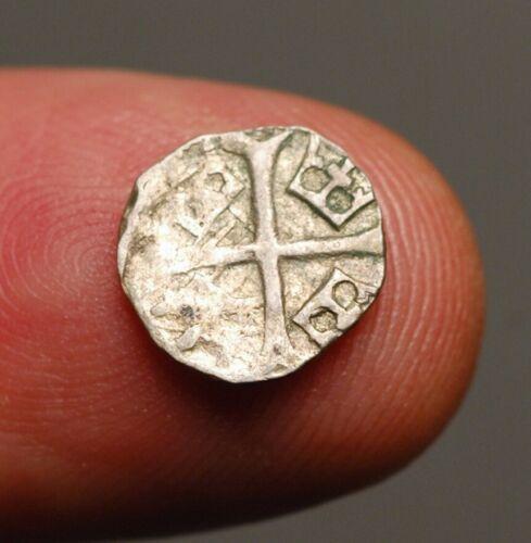 M12-32    Hungary, Sigismund of Laxemburg, 1387-1437 AD, miniscule silver obol