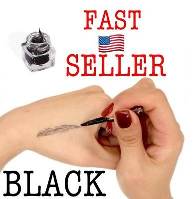 Brow Extension Hair Fiber The Most Natural Way For Women Eyebrow Makeup.. BLACK for sale  Shipping to India