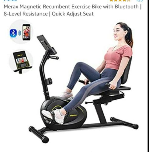 Merax Recumbent Exercise Bike Magnetic 8-Level Resistance w/