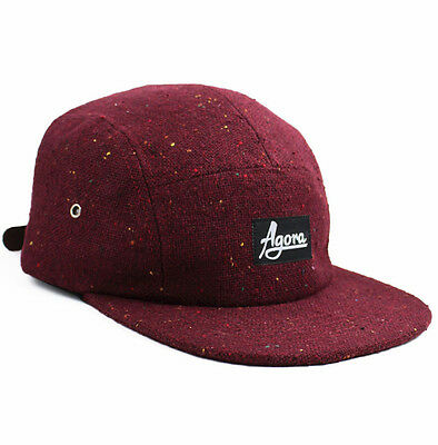 Agora Speckle 5 Panel Hat 6 Camp Cap snapback NEW