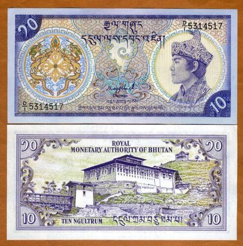 Bhutan, 10 Ngultum, ND (1986), P-15a, UNC