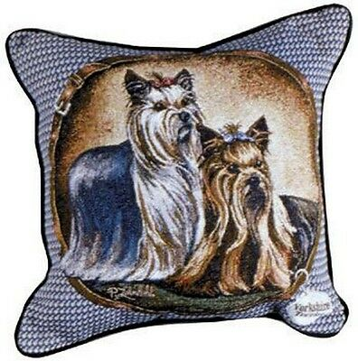 Yorkie Yorkshire Terrier Tapestry Throw Pillow Dogs 17x17 Made In Usa