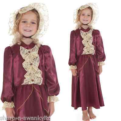 Girls Rich Victorian Lady Historical Book Day Fancy Dress Costume Outfit 3-9 yrs