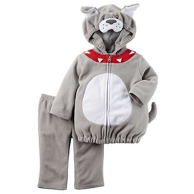 Carter's NWT 12M Microfleece Bulldog Dog Costume Infant Baby Boy (Baby Bulldog Costume)
