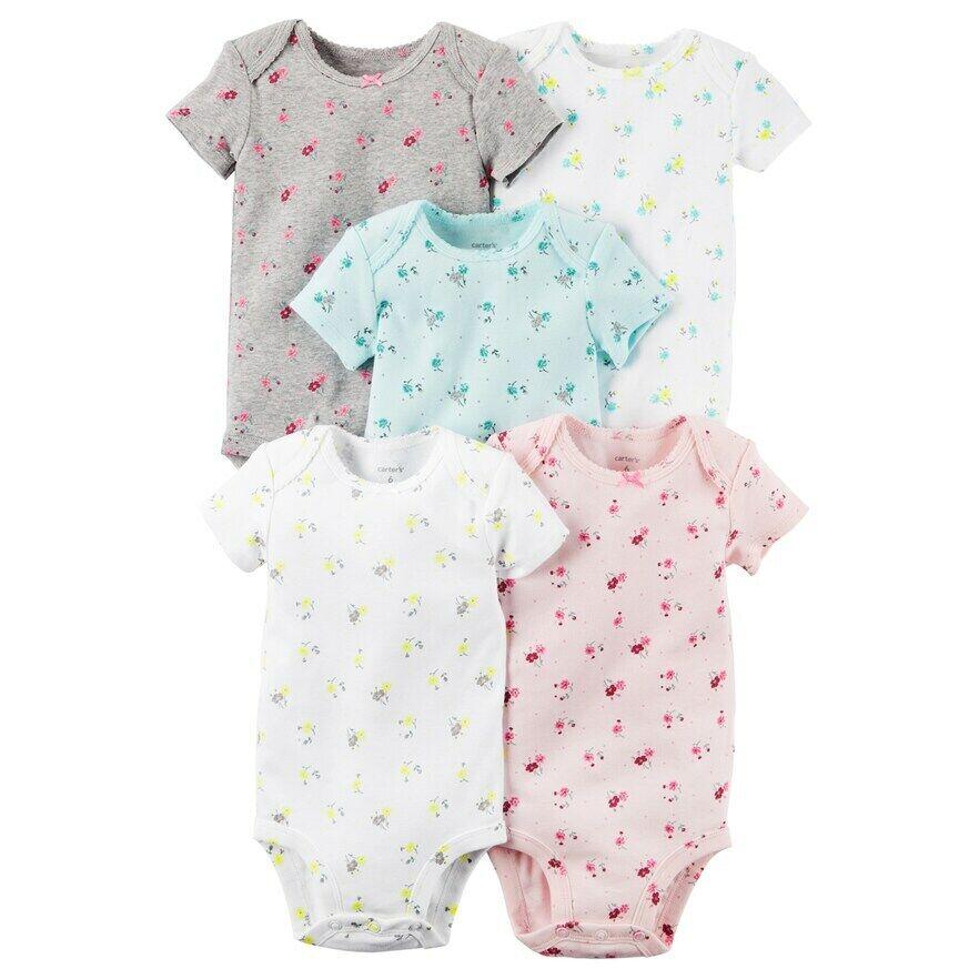 Carter's  Baby Girls' 5 Pack Bodysuits   Orig.$26.00