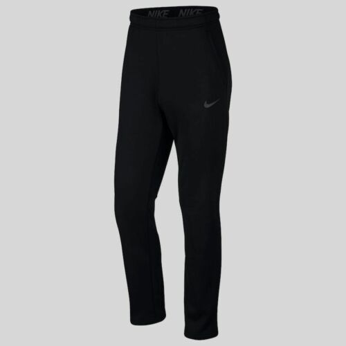 Nike Men's Therma Open Bottom Training Sweat Pants Small Bla