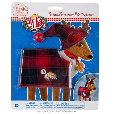 The Elf on the Shelf Christmas Plaid Tradition Elf Pets Reindeer Costume - NIP