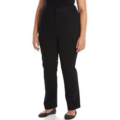 Women's plus size Gloria Vanderbilt black pants stretch comfort waist 18W NWT
