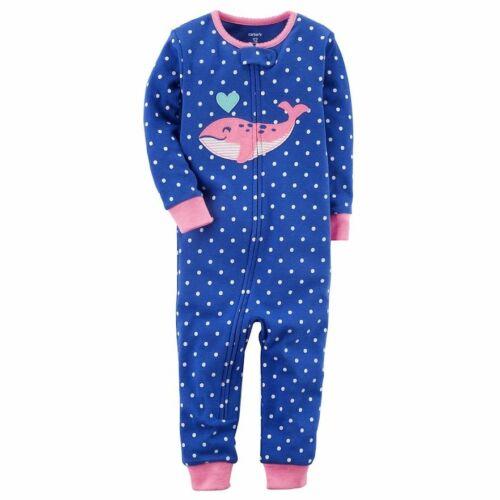 Carters Girls One Piece Cotton Pajamas